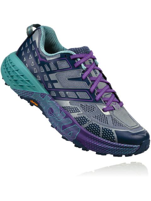 Hoka One One Speedgoat 2 - Chaussures running Femme - violet/Bleu pétrole